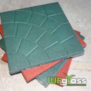 Резиновая плитка для склада «Паутинка» 350х350х30 мм